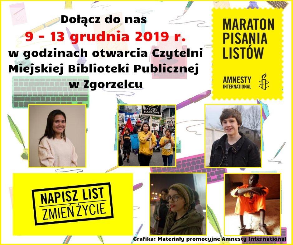 Maraton Pisania Listów 2019