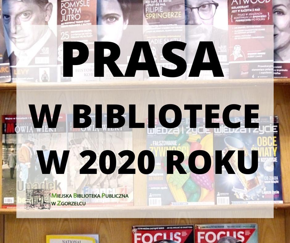 Prasa w bibliotece w 2020 roku