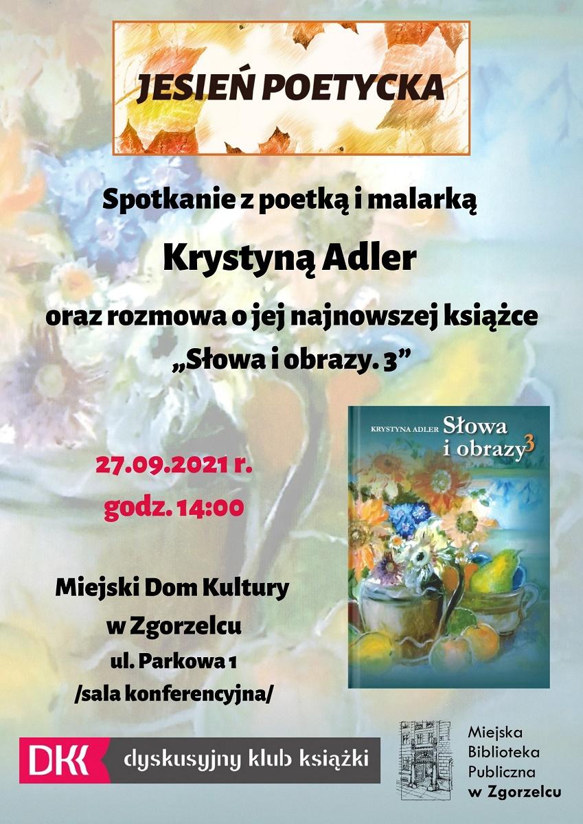 Spotkanie z Krystyną Adler 27-09-2021